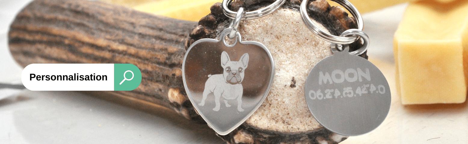 Médaille à graver avec du texte pour chiens et chats
